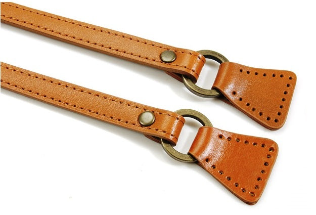 "19.3"" byhands Genuine Leather Camel Purse Handle, Bag Strap (32-4904)"