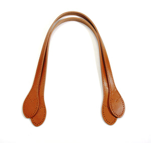"23"" byhands Genuine Leather Purse Handles, Shoulder Bag Strap, Camel (32-5904)"