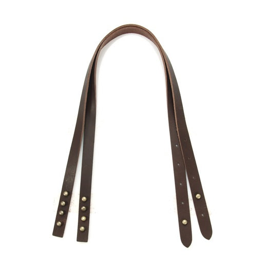 "24"" byhands 100% Genuine Leather Buckle Shoulder Bag Strap with Rivet (32-6115)"