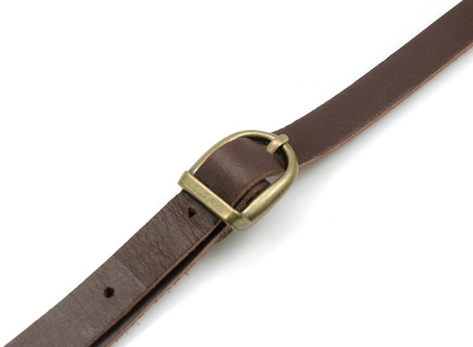 "44"" ~ 47.7"" byhands Genuine Leather Adjustable Crossbody Bag Strap with Leather Tab (40-1150)"