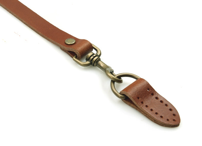"44"" ~ 47.7"" byhands Genuine Leather Adjustable Crossbody Bag Strap with Leather Tab, Tan (40-1150)"