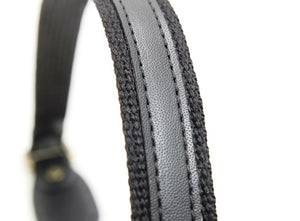 "25"" byhands Webbing Strap with Synthetic Leather Purse Handles, Bag Strap (40-6435)"