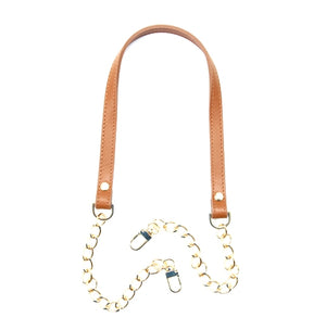 "30"" byhands Genuine Leather Shoulder Bag Strap, Metal Chain (40-8301)"