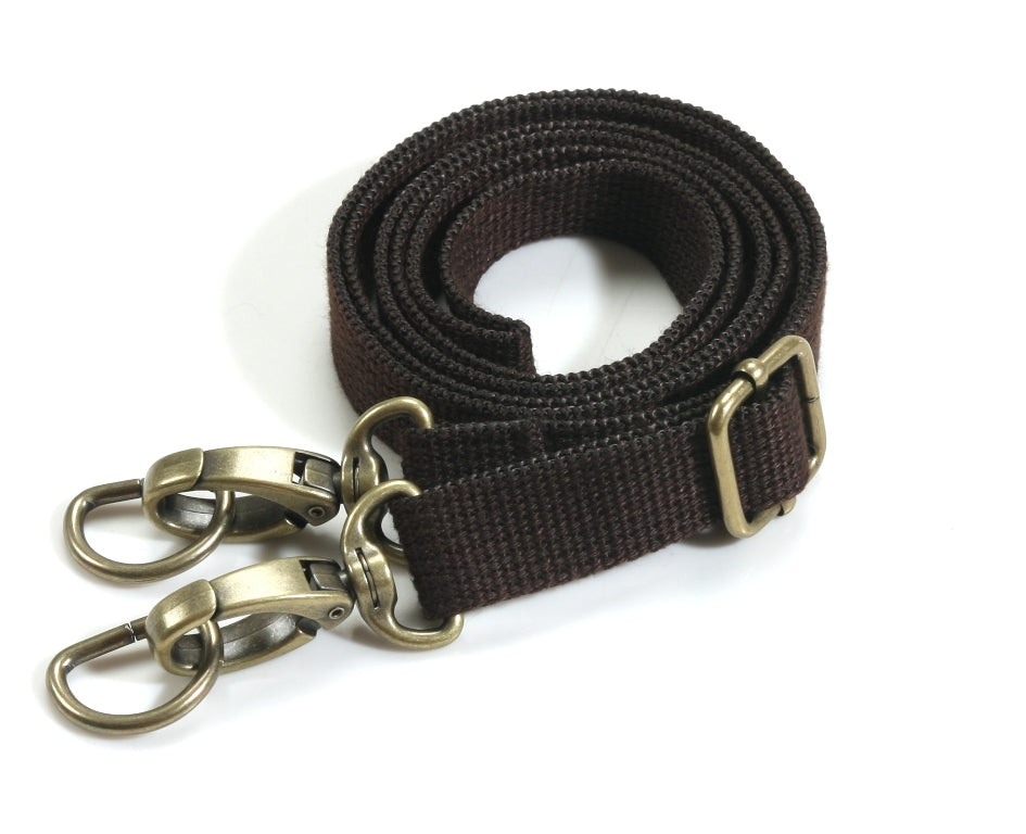 "28.7"" ~ 51.6"" byhands Adjustable Webbing Crossbody Bag Strap, Bronze Style Ring (44-1321)"