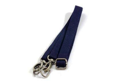 "28.7"" ~ 51.6"" byhands Adjustable Webbing Crossbody Bag Strap, Bronze Style Ring, Navy (44-1321)"