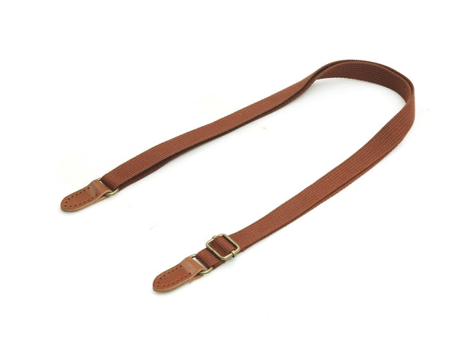 "byhands Adjustable Webbing Crossbody Bag Strap with Natural Rawhide Leather Tab, 29.3""~52"" (44-1322)"