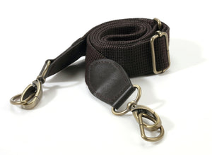 "33.4"" ~ 52.7"" byhands Adjustable Webbing Crossbody Bag Strap with 100% Genuine Leather Tab (44-1421)"