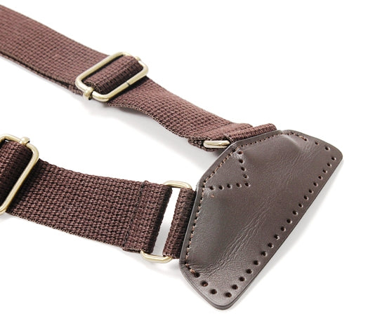 byhands Webbing Backpack Strap with Genuine Leather Tab (44-6403)