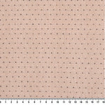 byhands 100% Cotton Yarn-Dyed Classic Mini Dot Pattern Checkered Fabric, Vintage Pink (EY20064-A)