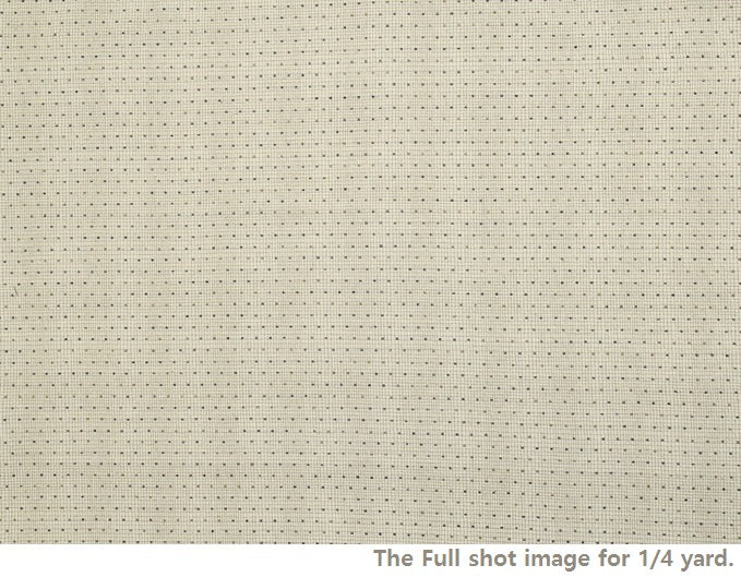 byhands 100% Cotton Yarn-Dyed Fabric, Classic Mini Dot Pattern Checkered Fabric, Vintage Natural (EY20064-E)