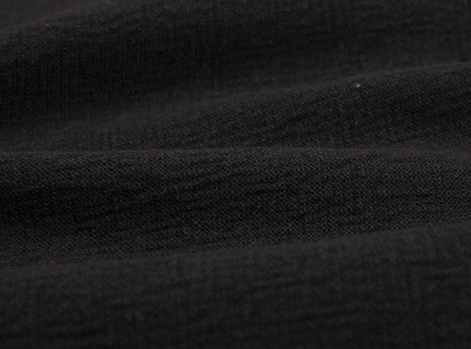 byhands 100% Cotton Yarn Dyed Fabric - Classic Checkerd Pattern, Black (EY20029-G)