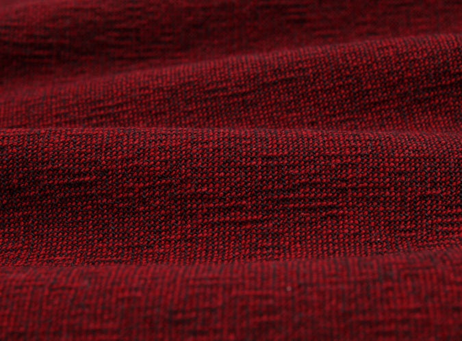 byhands 100% Cotton Yarn Dyed Fabric - Classic Checkerd Pattern, Black Red (EY20029-R)