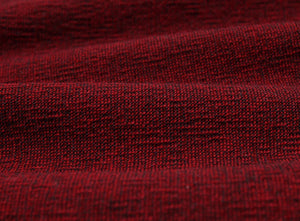 byhands 100% Cotton Yarn Dyed Fabric - Classic Checkerd Pattern Fabric, Black Red (EY20029-R)