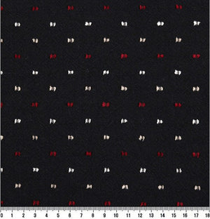 byhands 100% Cotton Yarn-Dyed Fabric, Classic Stitch Checkered Pattern, Black (EY20038-B)