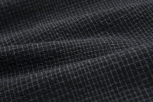 byhands 100% Cotton Yarn-Dyed Fabric - Classic Wave Pattern Checkered Fabric, Black (EY20039-A)