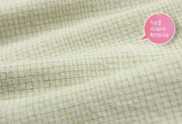 byhands 100% Cotton Yarn-Dyed Fabric,  Classic Wave Checkered Pattern, Natural (EY20039-B)