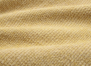 byhands 100% Cotton Yarn-Dyed Fabric, Classic Wave Checkered Pattern, Mustard (EY20039-C)