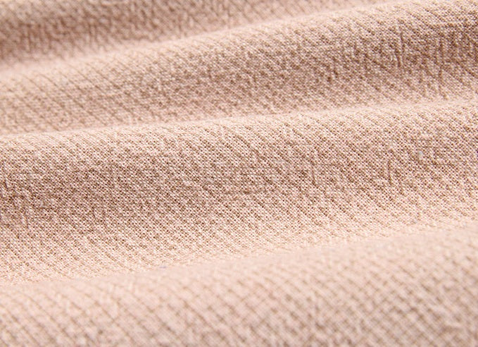 byhands 100% Cotton Yarn-Dyed Fabric, Classic Wave Checkered Pattern, Vintage Pink (EY20039-H)