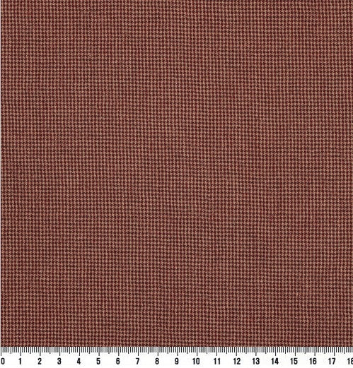 byhands 100% Cotton Fabric - Euro Style Yarn-Dyed Checkered Fabric, Deep Red (EY20042-I)