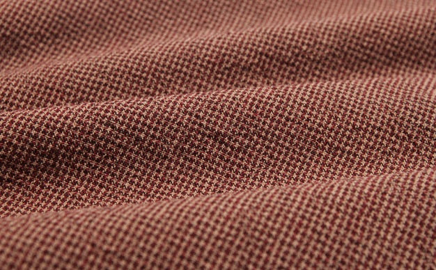 byhands 100% Cotton Yarn-Dyed Fabric - Euro Style Checkered Pattern, Deep Red (EY20042-I)
