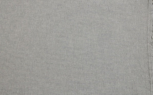 byhands 100% Cotton Fabric - Euro Style Yarn-Dyed Checkered Fabric, Sky Gray (EY20042-J)