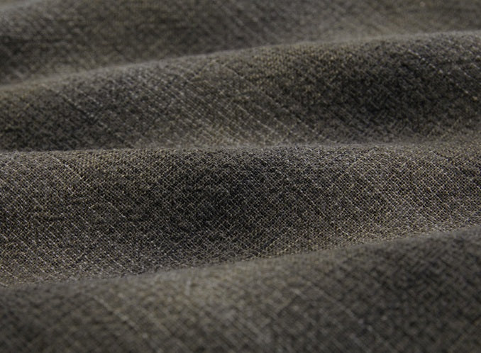 byhands 100% Cotton Yarn-Dyed Fabric, Mini Gradation Checkered Pattern, Sepia (EY20062-D)
