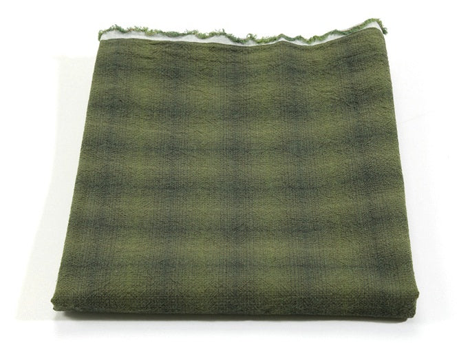 byhands 100% Cotton Yarn-Dyed Fabric, Mini Gradation Checkered Pattern, Green (EY20062-E)