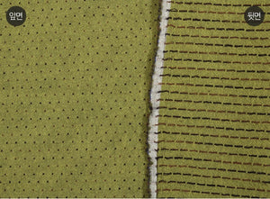 byhands 100% Cotton Yarn Dyed Classic Mini Dot Pattern Fabric, Leaf Green (EY20066-D)