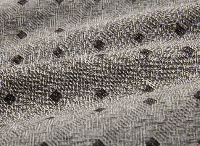 byhands 100% Cotton Yarn Dyed Fabric, Mini Square Light Series Checkered Pattern, Light Gray (EY20074-A)