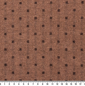 byhands 100% Cotton Yarn Dyed Fabric, Mini Square Light Series Checkered Pattern, Peach (EY20074-F)