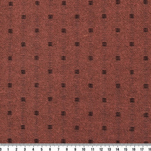 byhands 100% Cotton Yarn Dyed Mini Square Light Series Checkered Pattern Fabric, Coral (EY20074-G)