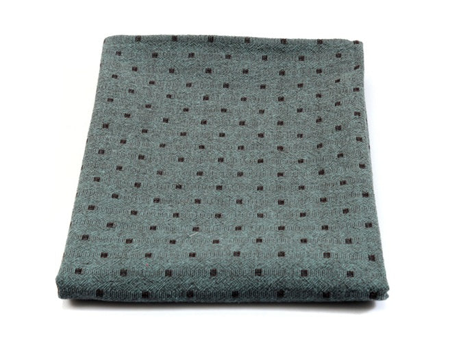 byhands 100% Cotton Yarn Dyed Fabric, Mini Square Light Series Checkered Pattern, Mint (EY20074-I)