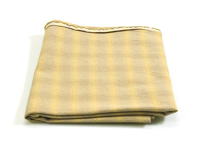 byhands 100% Cotton Yarn Dyed Fabric, Breakfast Series Checkered Pattern, Beige (EY20076-B)