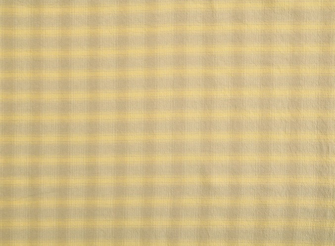 byhands 100% Cotton Yarn Dyed Breakfast Series Checkered Pattern Fabric, Beige (EY20076-B)
