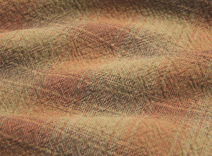 byhands 100% Cotton Yarn Dyed Breakfast Series Checkered Pattern Fabric, Red Brown (EY20076-E)