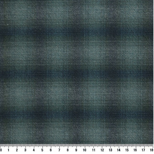 byhands 100% Cotton Yarn Dyed Wonder Check Series Checkered Pattern Fabric, Grey Blue (EY20079-D)