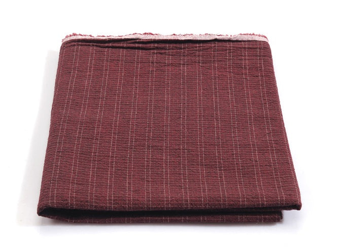byhands 100% Cotton Yarn-Dyed Trend Mini Check Pattern, Burgundy (EY20081-H)
