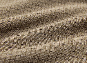 byhands 100% Cotton Yarn-Dyed Trend Mini Check Pattern, Light Mocha (EY20081-I)