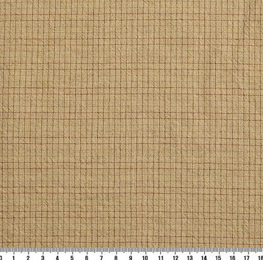 byhands 100% Cotton Yarn-Dyed Trend Mini Check Pattern, Light Yellow (EY20081-K)