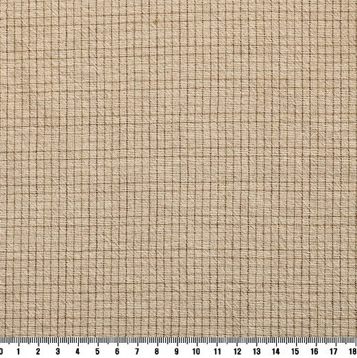 byhands 100% Cotton Yarn-Dyed Trend Mini Check Pattern, Beige (EY20081-M)