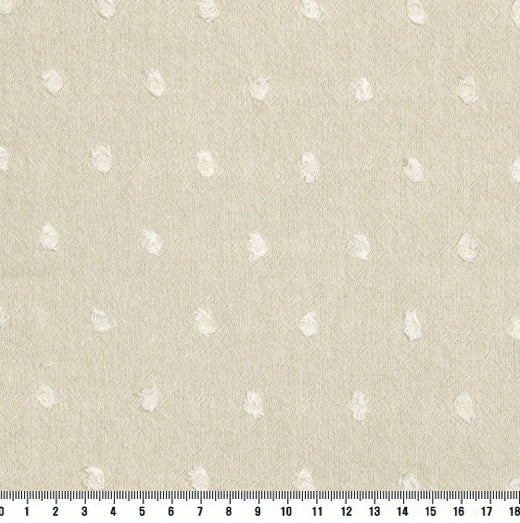 byhands 100% Cotton Yarn Dyed Fabric - Milk Dot Pattern Checkered Series Fabric, Beige (EY20084-1)