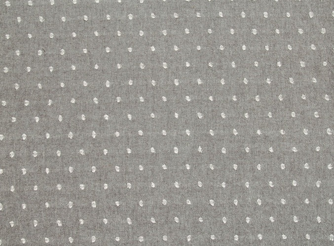 byhands 100% Cotton Fabric, Milk Dot Pattern/Yarn Dyed Checkered Series Fabric, Sepia (EY20084-3)