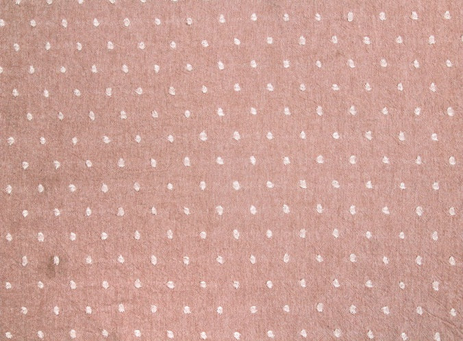 byhands 100% Cotton Yarn Dyed Fabric - Milk Dot Pattern Checkered Series, Indy Pink (EY20084-4)