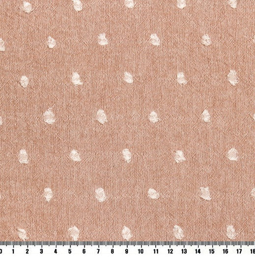 byhands 100% Cotton Yarn Dyed Fabric - Milk Dot Pattern Checkered Series Fabric, Indy Pink (EY20084-4)