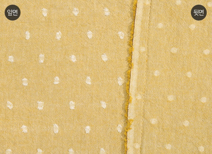 byhands 100% Cotton Fabric, Milk Dot Pattern/Yarn Dyed Checkered Series Fabric, Yellow (EY20084-5)