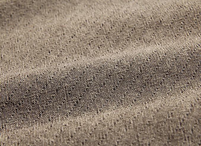 byhands 100% Cotton Yarn Dyed Fabric - Line Stripe Check Pattern, Light Sepia (EY20085-B)