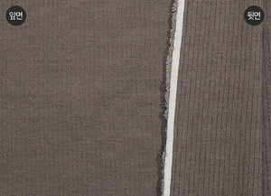 byhands 100% Cotton Yarn Dyed Fabric - Line Stripe Check Pattern, Deep Gray (EY20085-F)