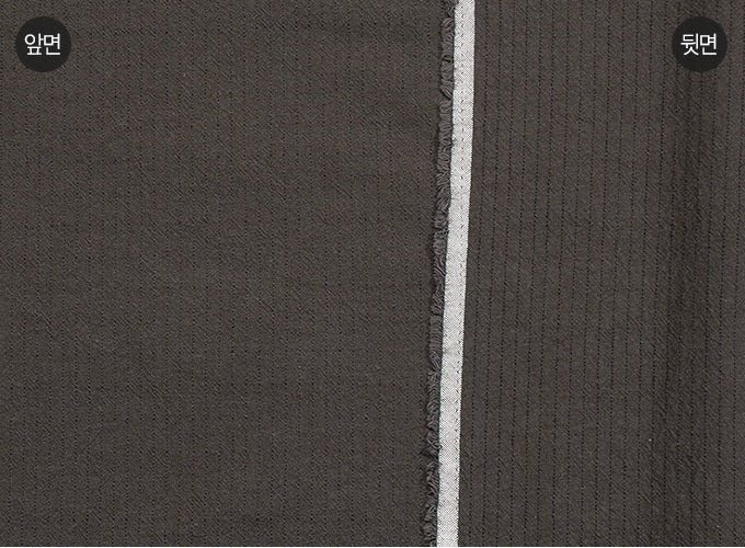 byhands 100% Cotton Yarn Dyed Fabric - Line Stripe Check Pattern, Charcoal (EY20085-G)