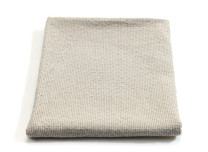 byhands 100% Cotton Yarn Dyed Fabric, Royal Dobby Check Pattern, Light Grey (EY20086-B)