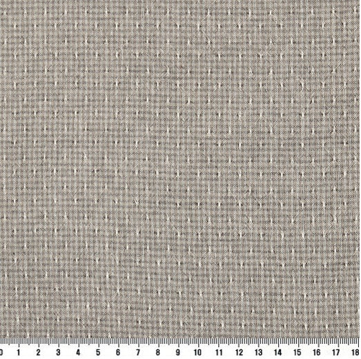 byhands 100% Cotton Yarn Dyed Fabric, Royal Dobby Check Pattern, Grey (EY20086-C)